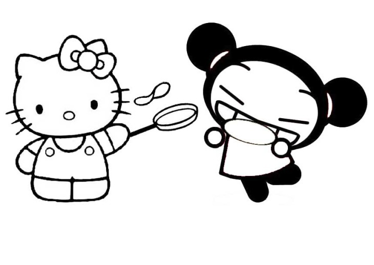 Coloriage hello kitty et pucca imprimer - Coloriage pucca ...