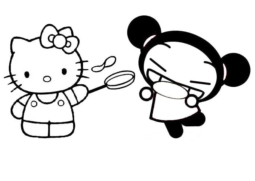 Coloriage hello kitty et pucca imprimer - Hello kitty imprimer ...