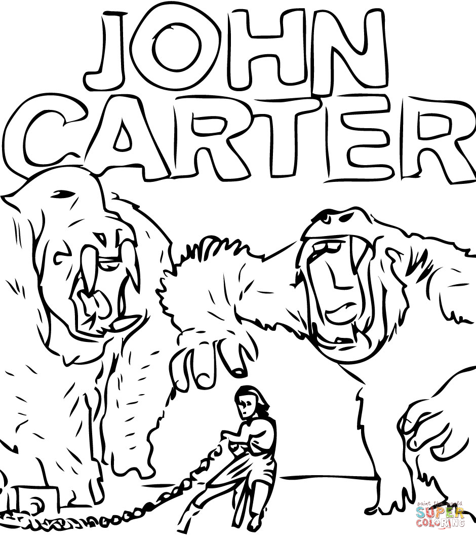 Coloriage John Carter