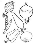 Coloriage legumes