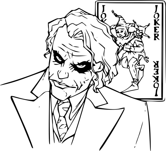 Coloriage le Joker