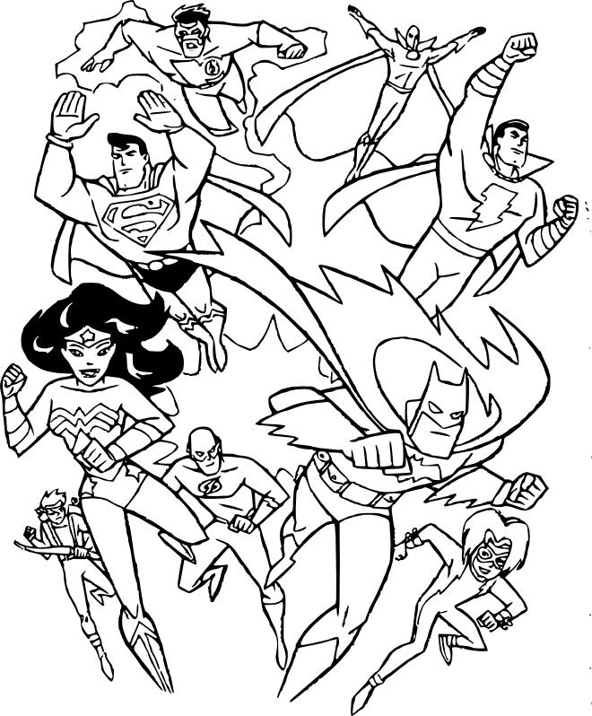 Coloriage les super-heros