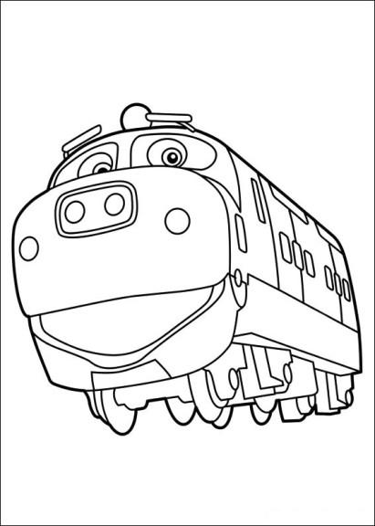 Coloriage locomotive Chuggington