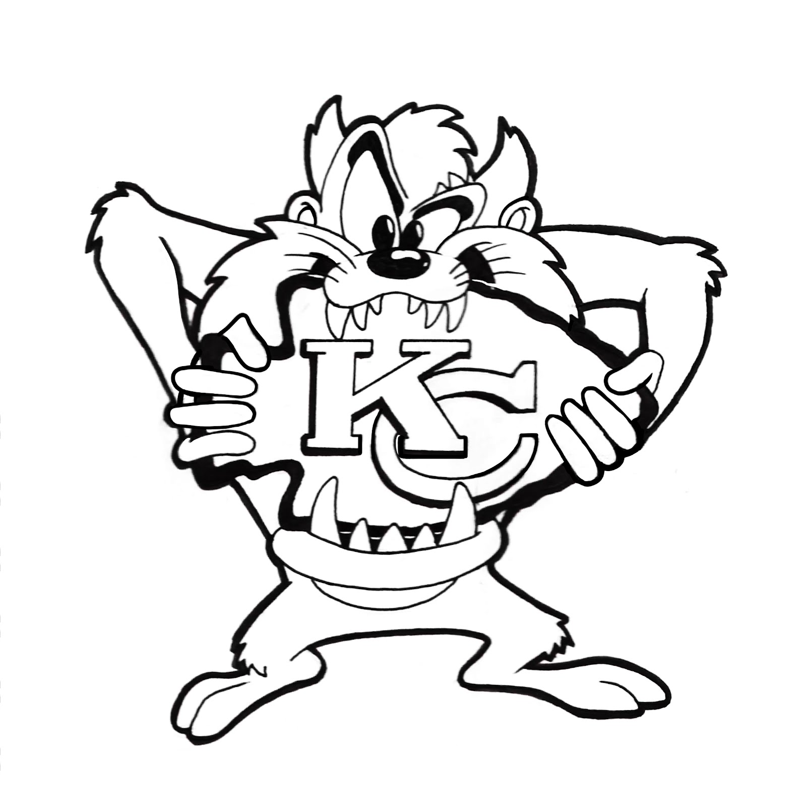 Coloriage Looney Tunes Taz