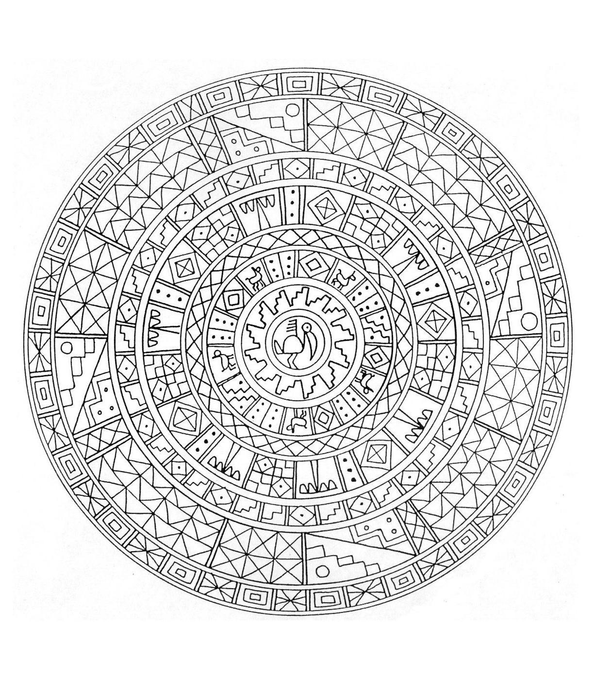 Coloriage mandala egypte imprimer - Mandala beau et difficile ...