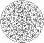 Coloriage mandala fleurs