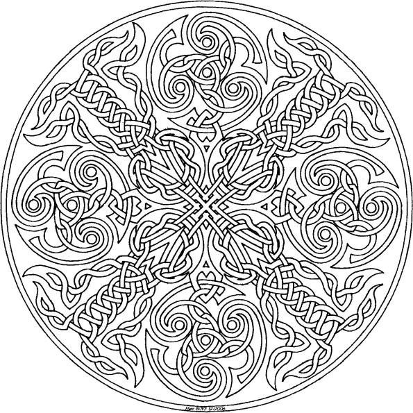 coloriage dessin mandala gratuit