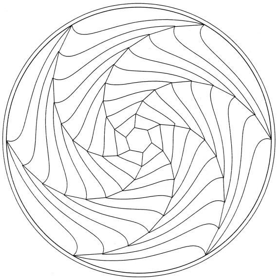 Coloriage mandala spirale