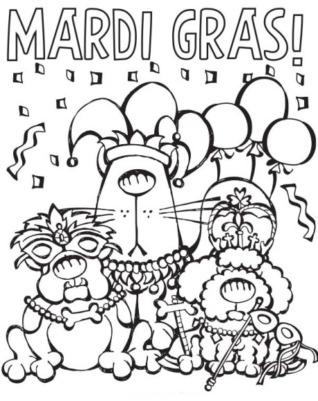 Coloriage Mardi Gras