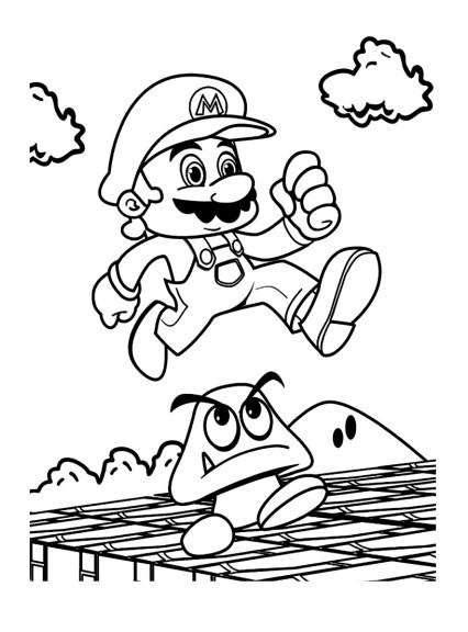 Coloriage Mario jeu