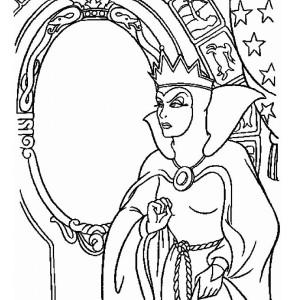 Coloriage blanche neige princesse imprimer - Miroir de blanche neige ...