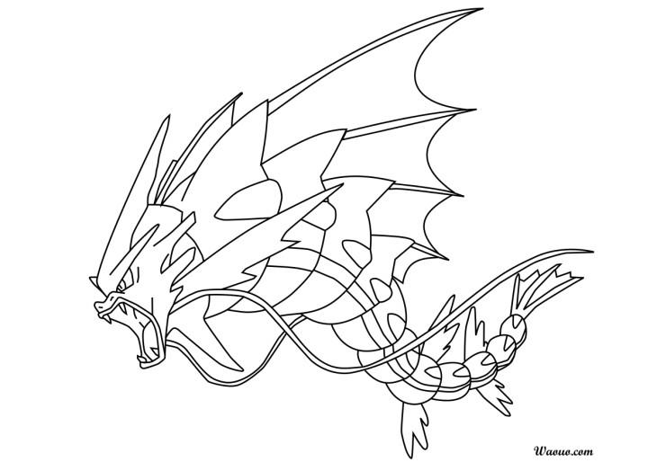 Coloriage m ga l viator m ga pok mon imprimer - Dessin pokemon legendaire a imprimer gratuit ...