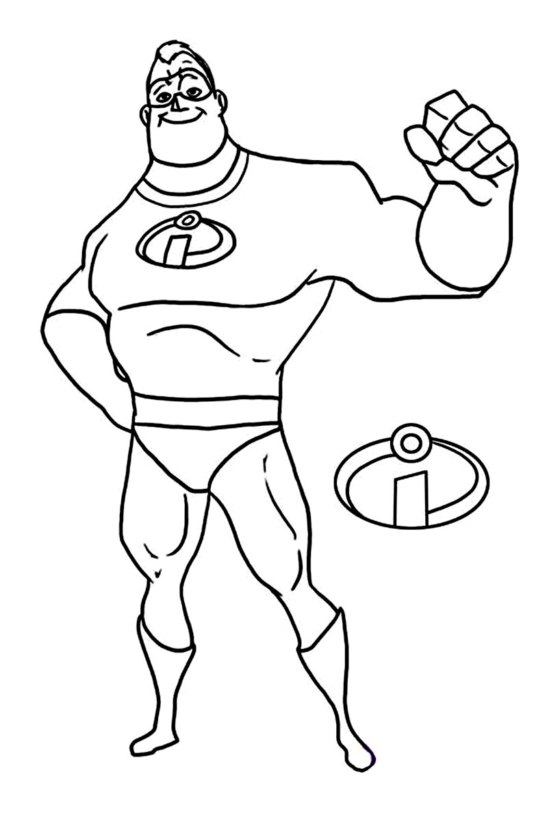 Coloriage M. Indestructible