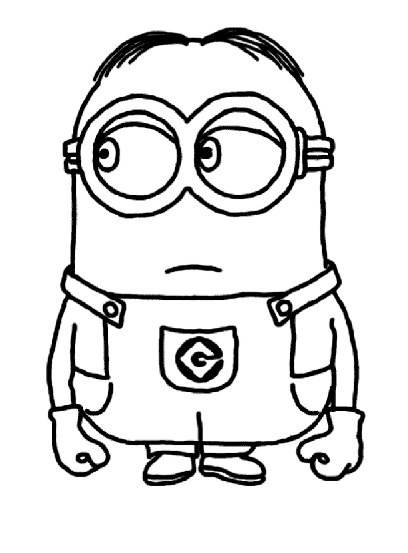 Coloriage Minion Rush