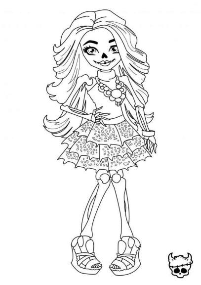 Coloriage d une fille de monster high imprimer - Dessin anime de monster high ...