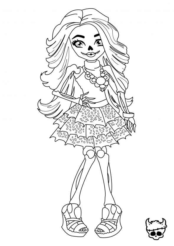 Coloriage d une fille de monster high imprimer - Comment dessiner une monster high ...