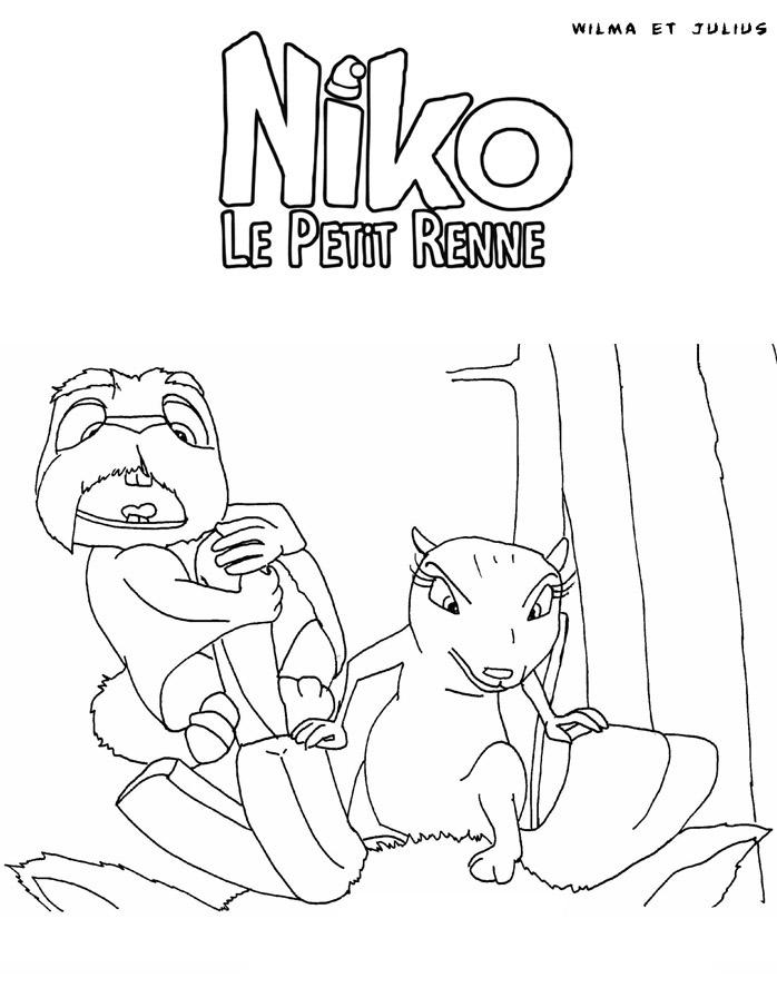 Coloriage Niko le petit renne
