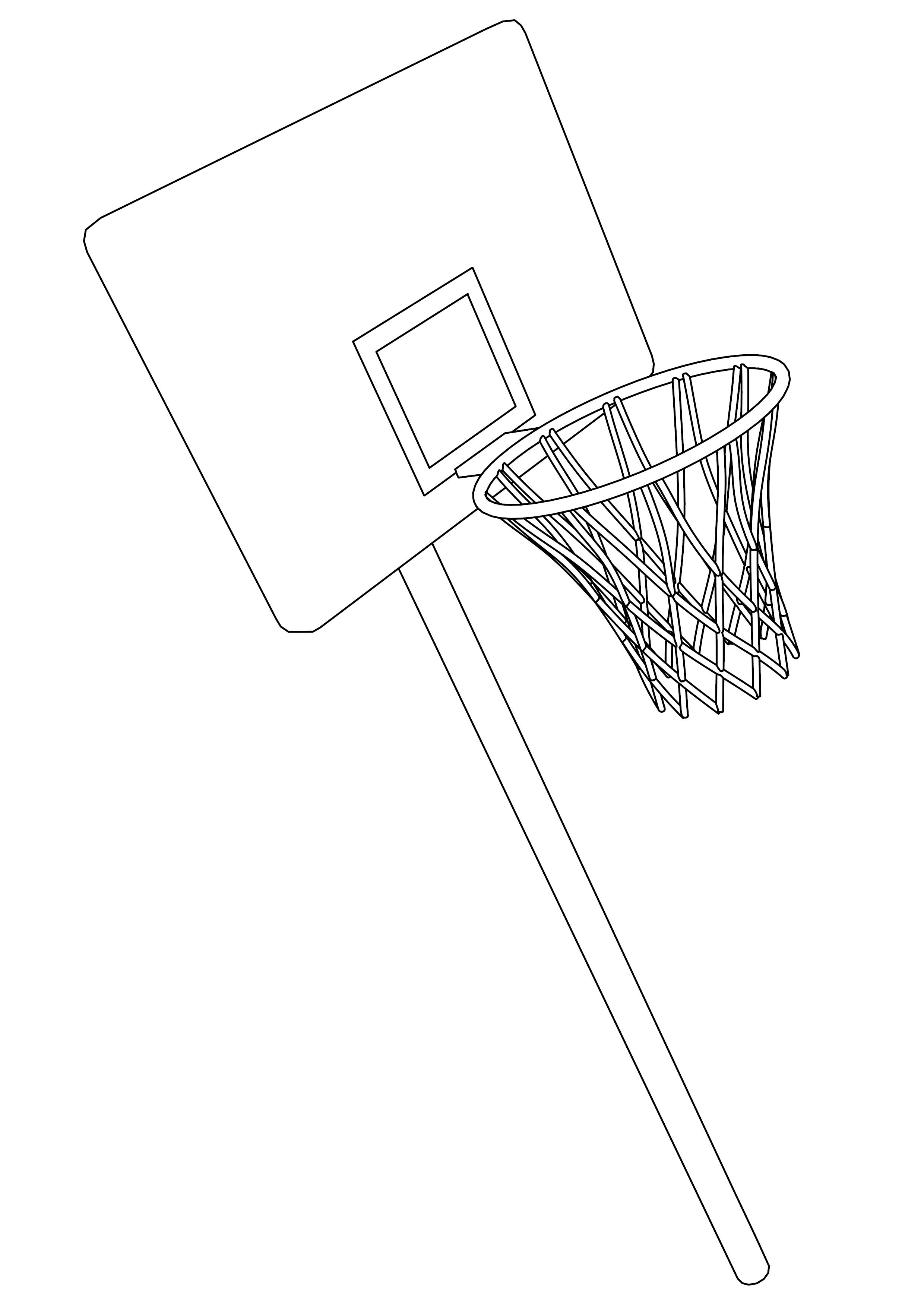 Coloriage panier de basketball