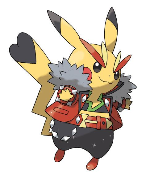 Coloriage Pikachu Rockstar