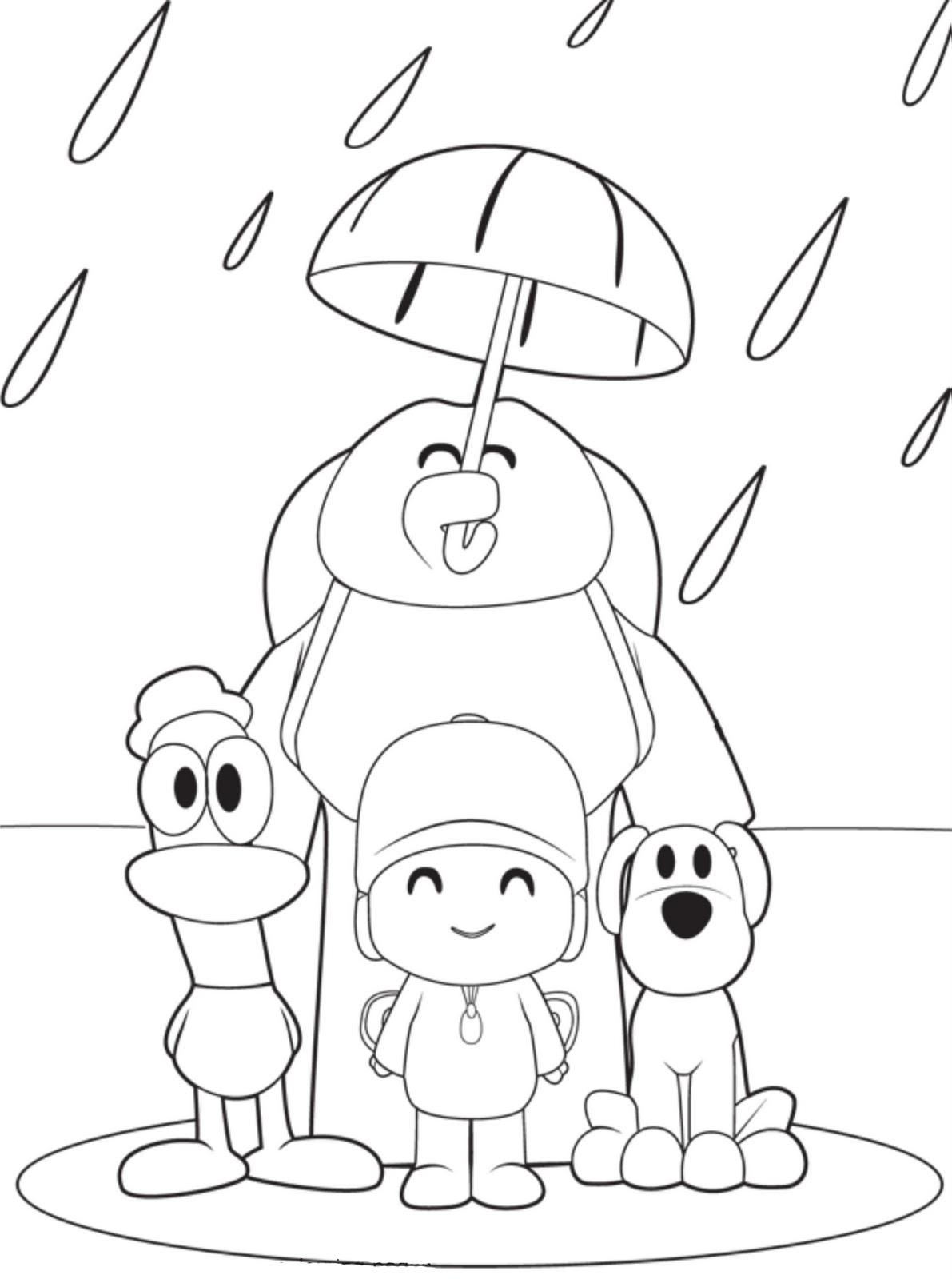 Coloriage Pocoyo et ses amis