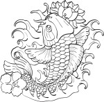 Coloriage poisson japonais