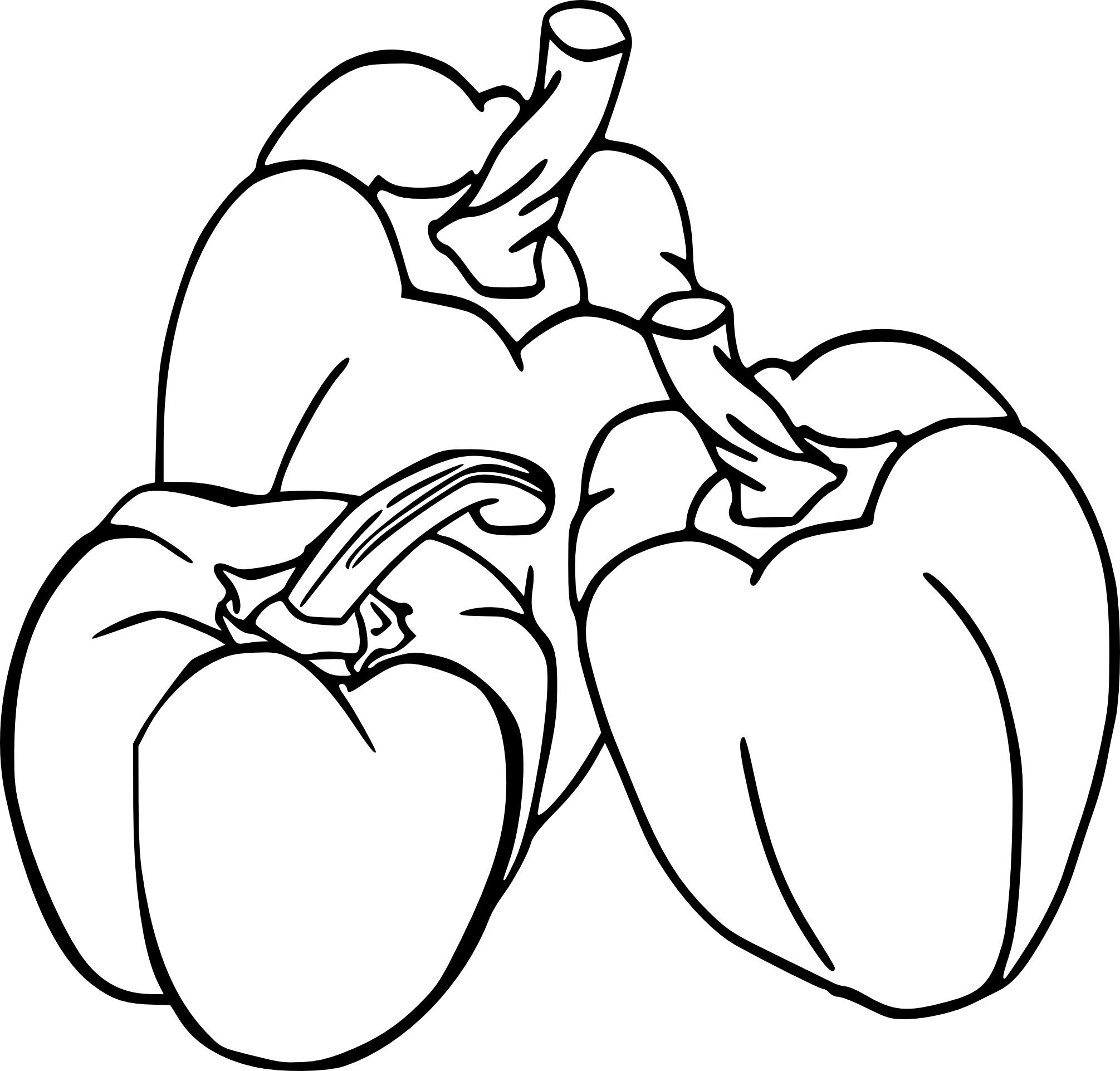 Coloriage poivron
