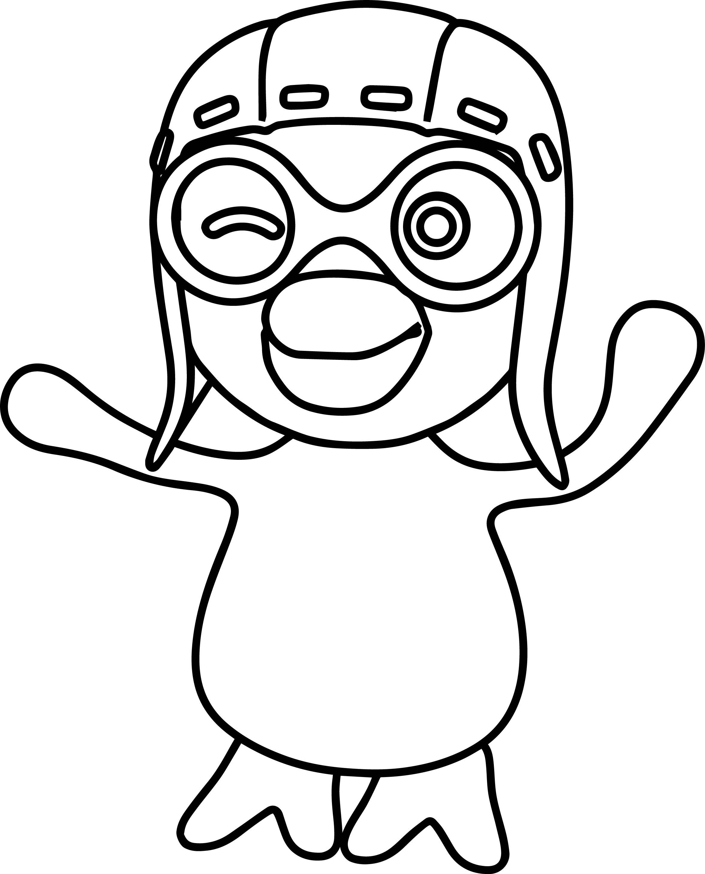 Coloriage Pororo le petit pingouin