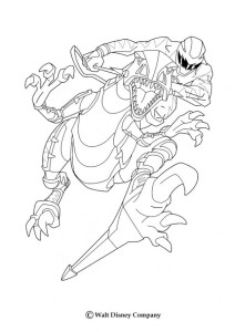 Coloriage Power Rangers dino