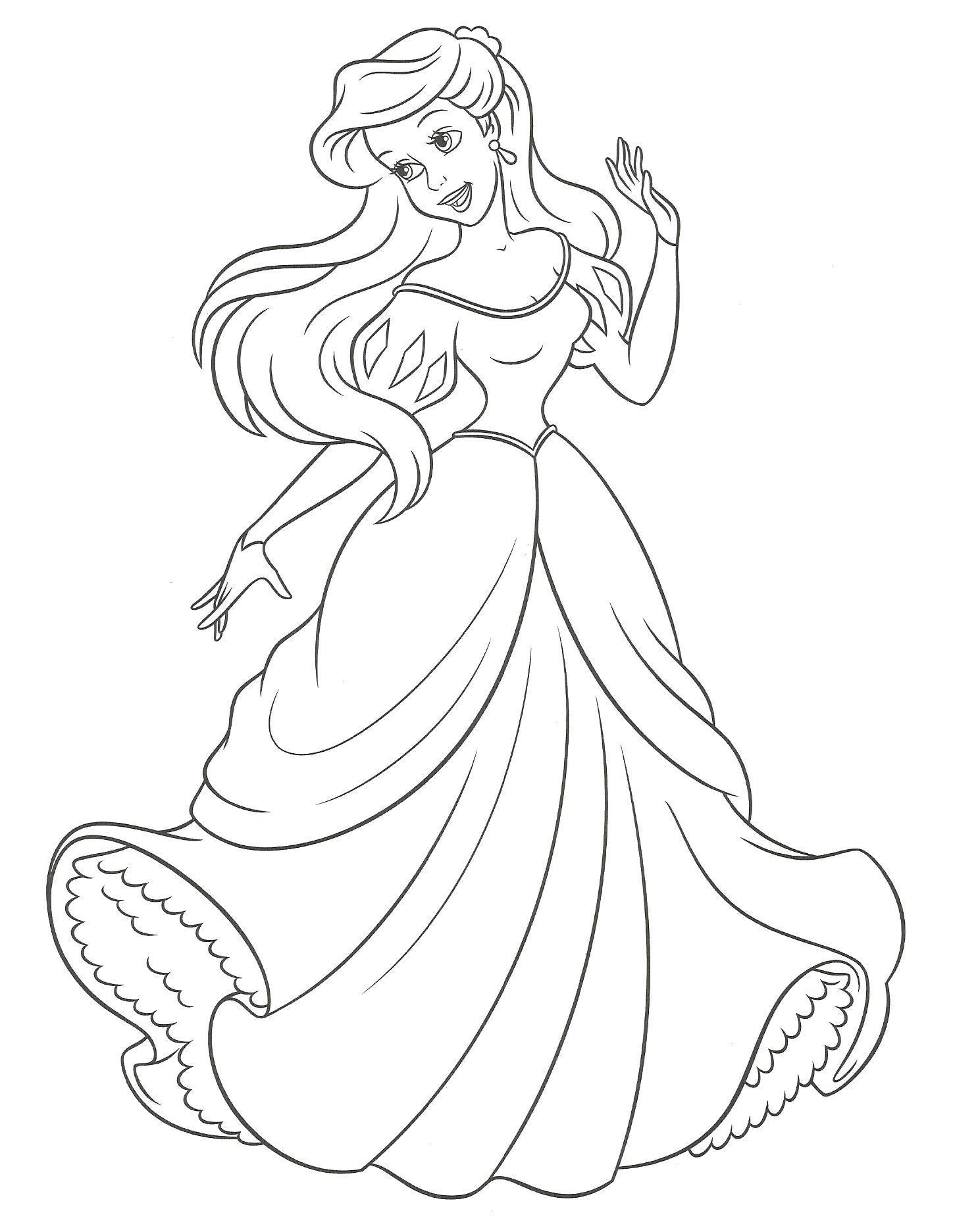 Coloriage princesse sirene disney