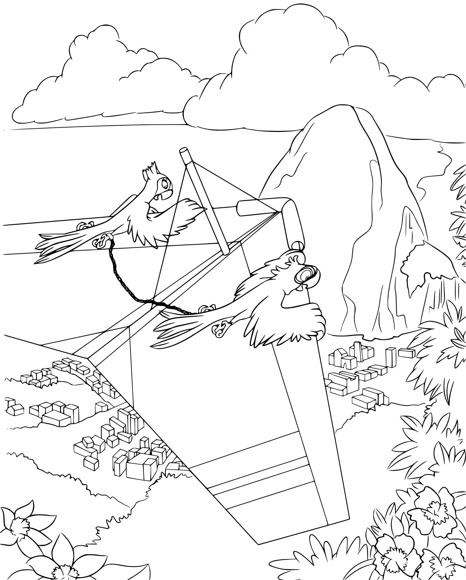 Coloriage Rio deltaplane