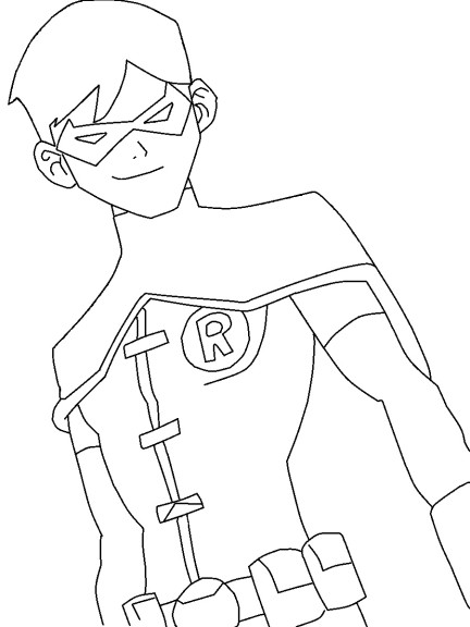 Coloriage Robin super hero