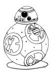 Coloriage robot BB-8