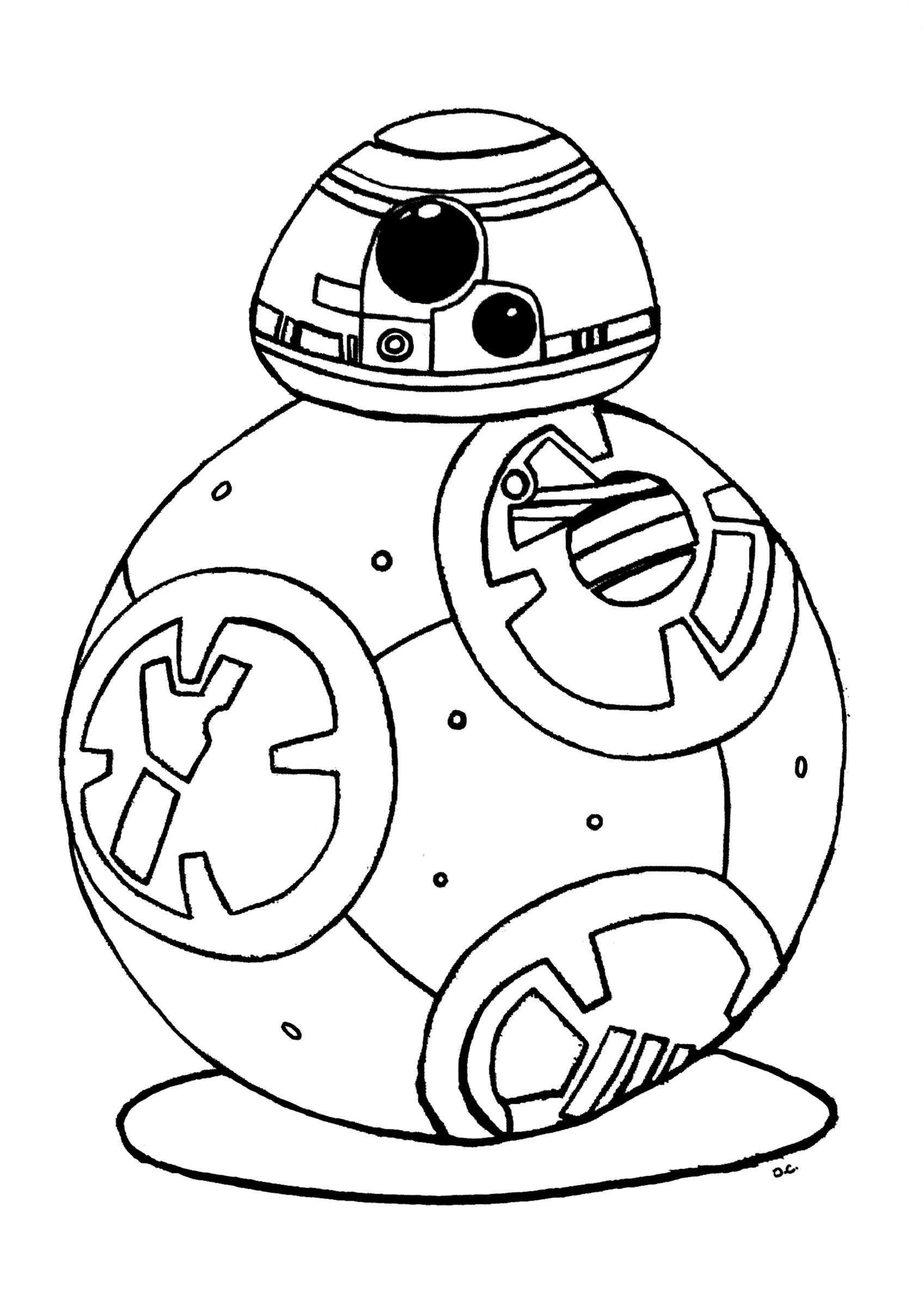coloriage robot bb 8 star wars