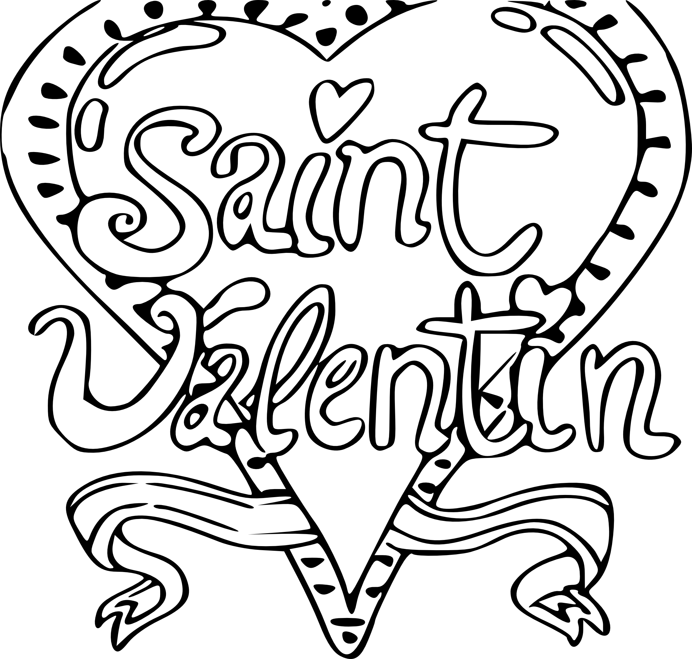 Coloriage saint valentin imprimer - Dessin de saint valentin ...
