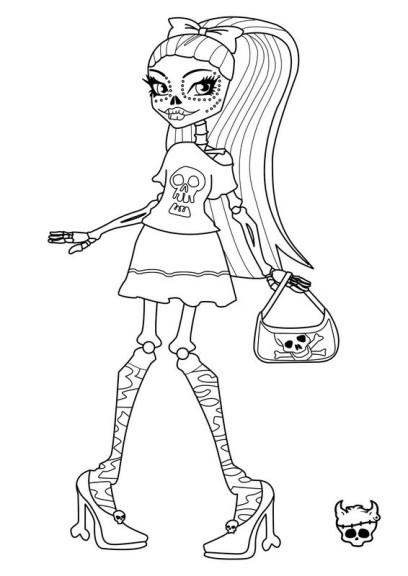 Coloriage Skelita Monster High