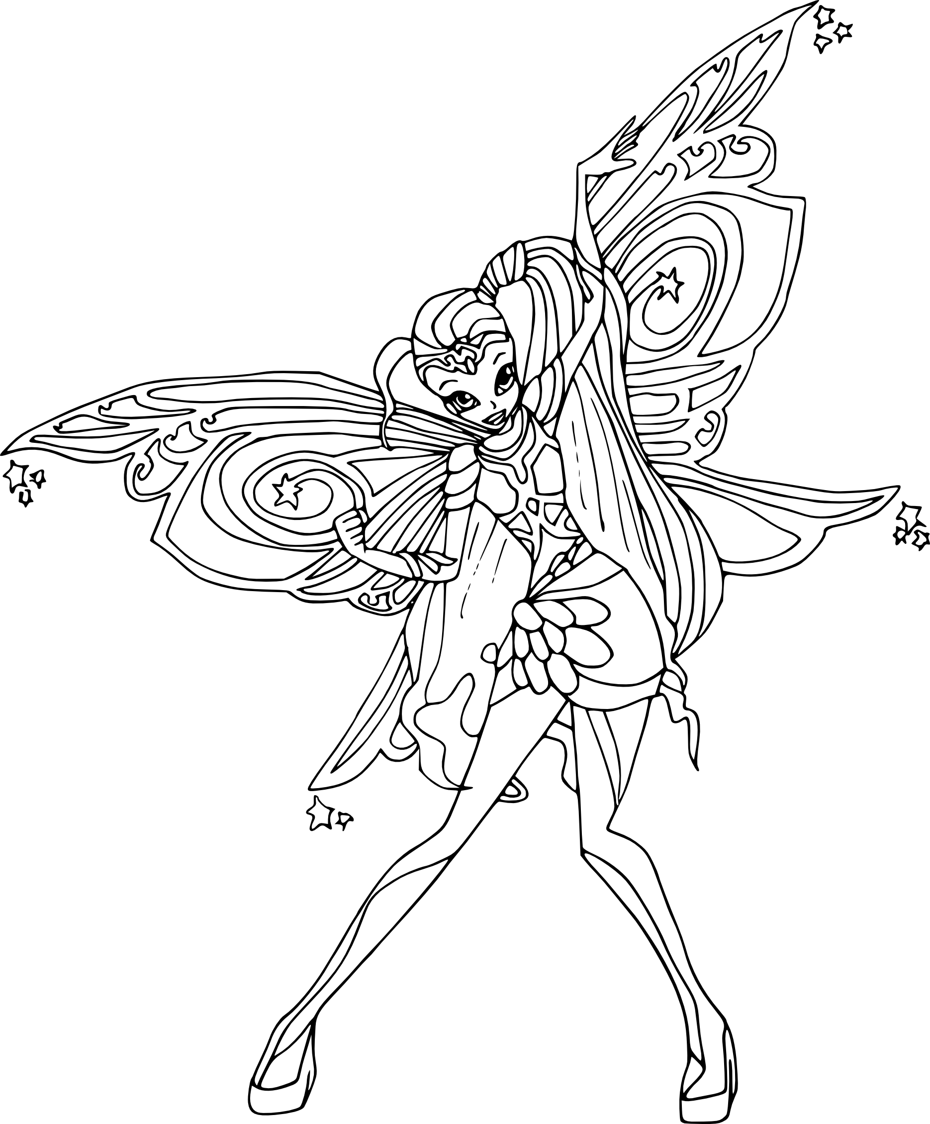 Coloriage stella bloomix winx imprimer - Coloriage winx bloom ...