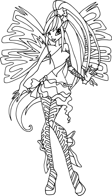 coloriage stella sirenix winx
