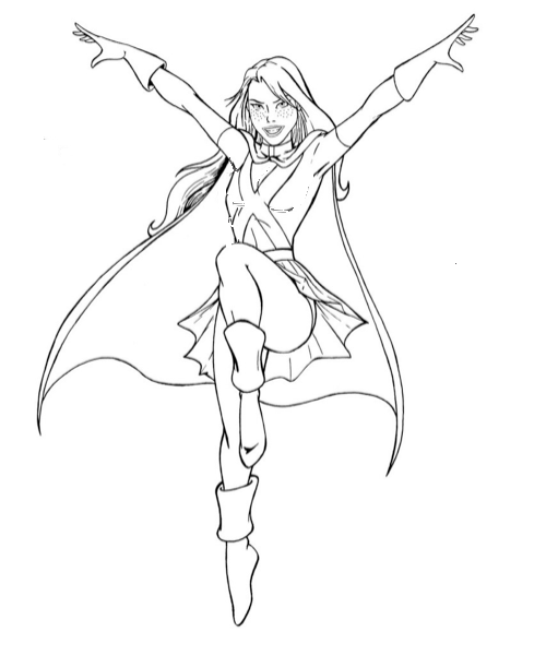Coloriage super heroine