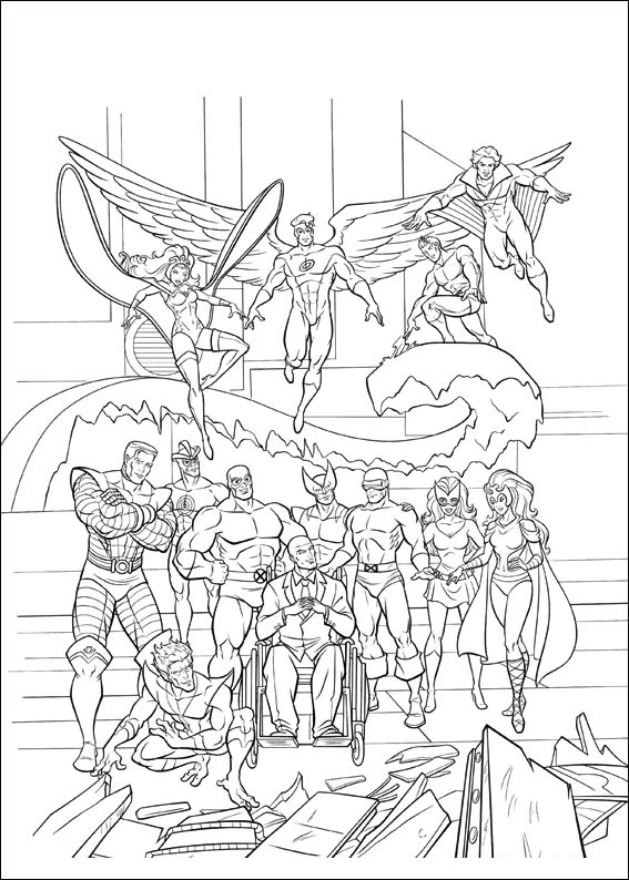 Coloriage super-heros X-Men