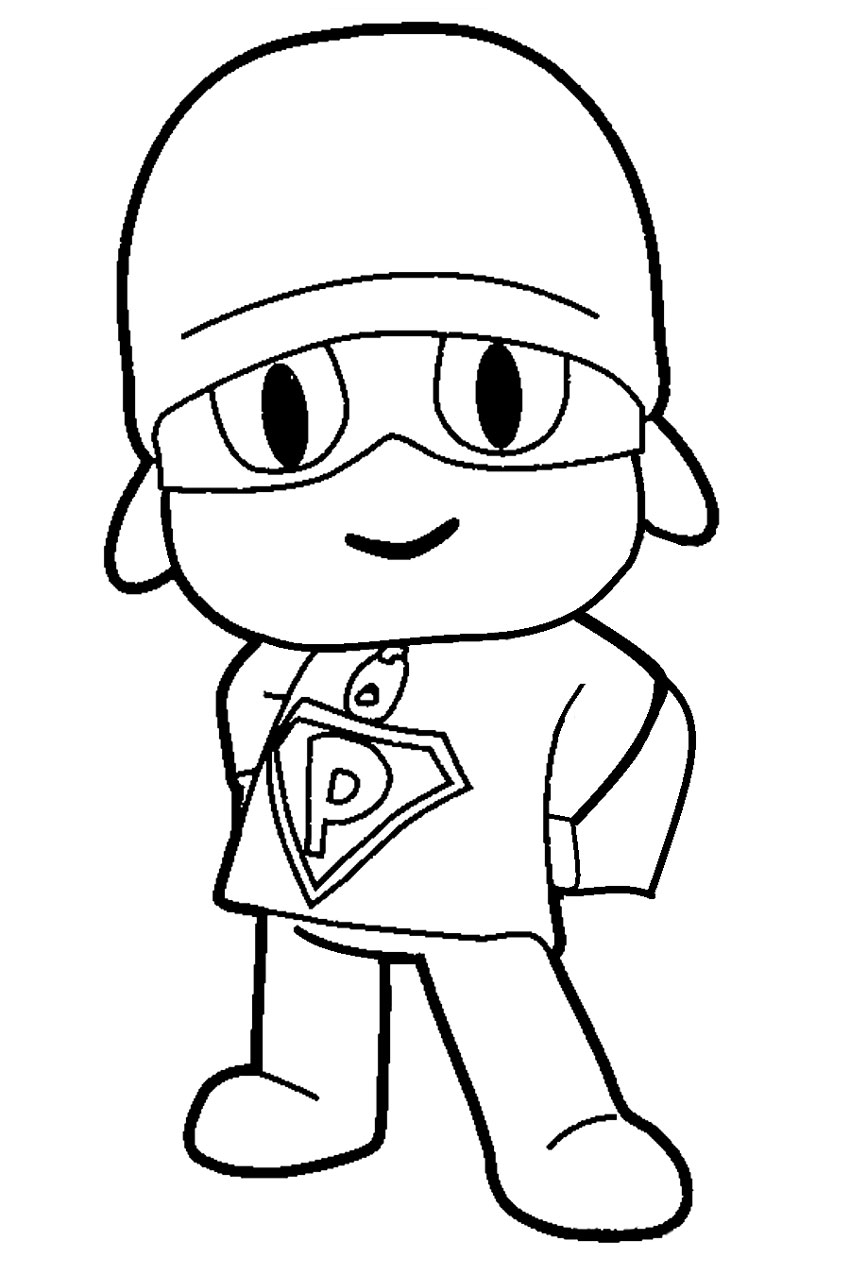 Coloriage super Pocoyo