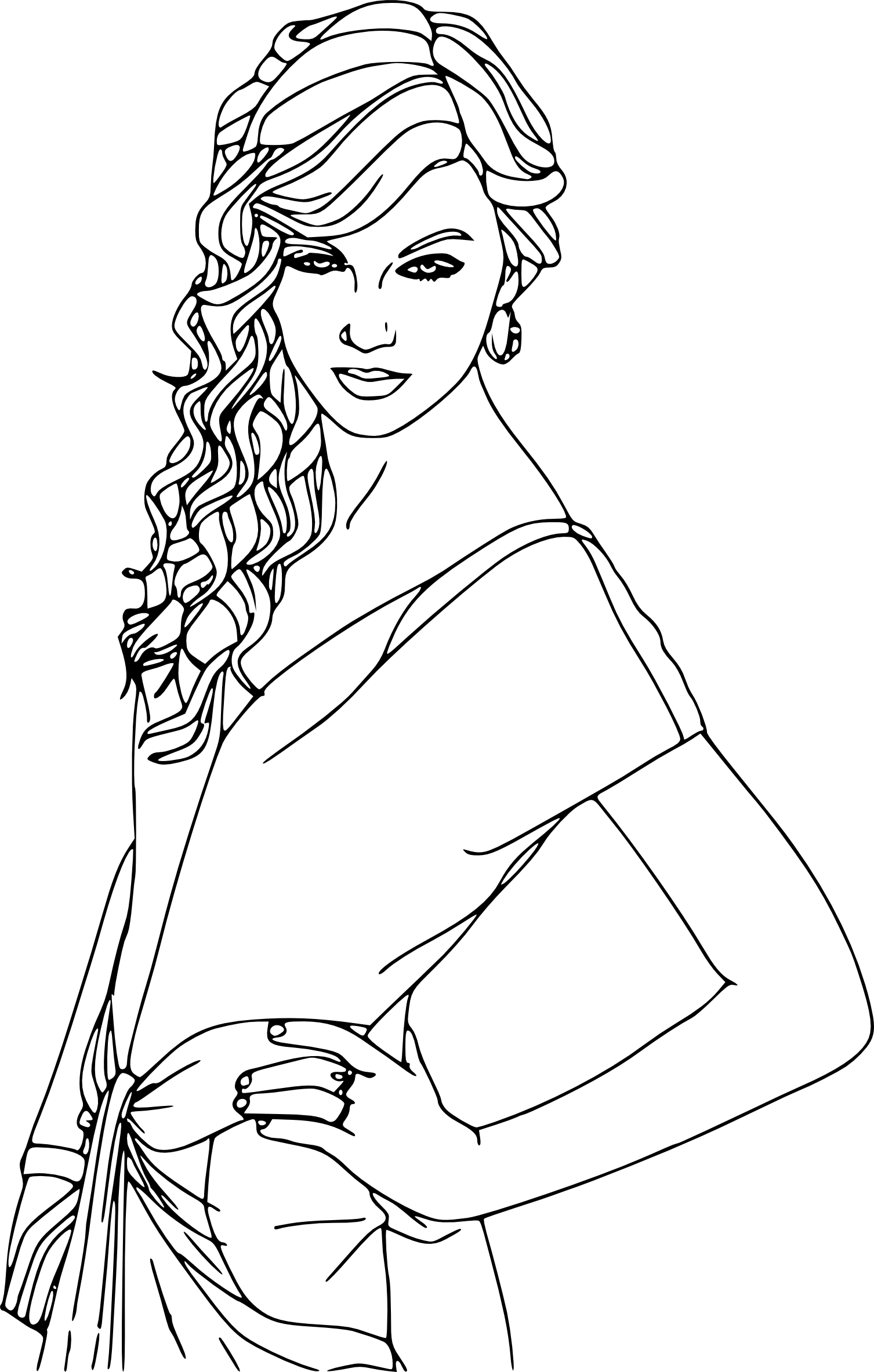 Coloriage Taylor Swift... Taylor Swift