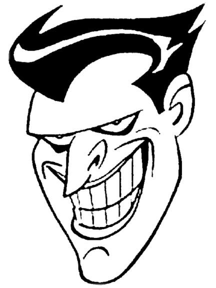 Coloriage tete du Joker