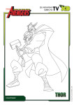 Coloriage Thor