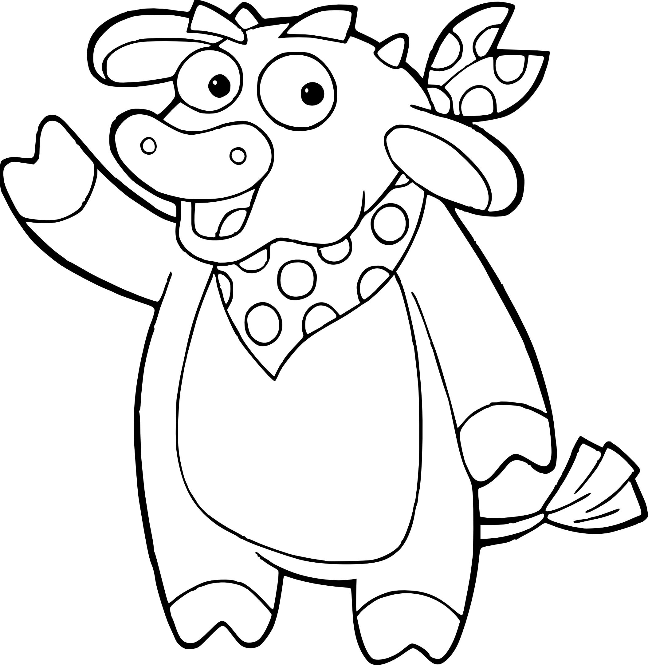 Coloriage vache Dora l'exploratrice