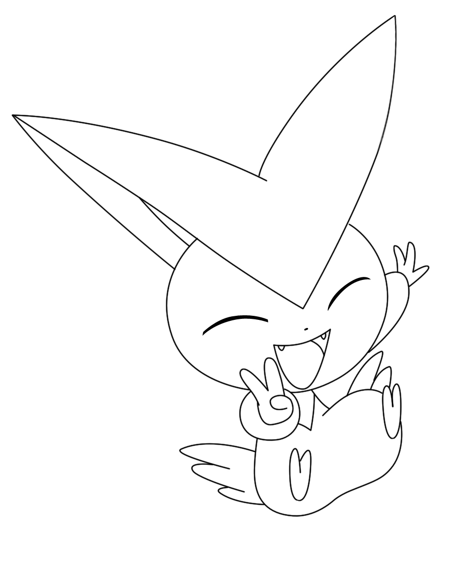 Coloriage victini pokemon imprimer - Coloriage art ...