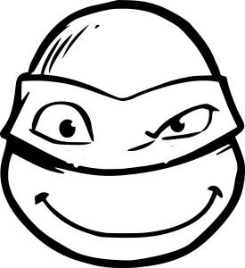 Coloriage visage Tortue Ninja