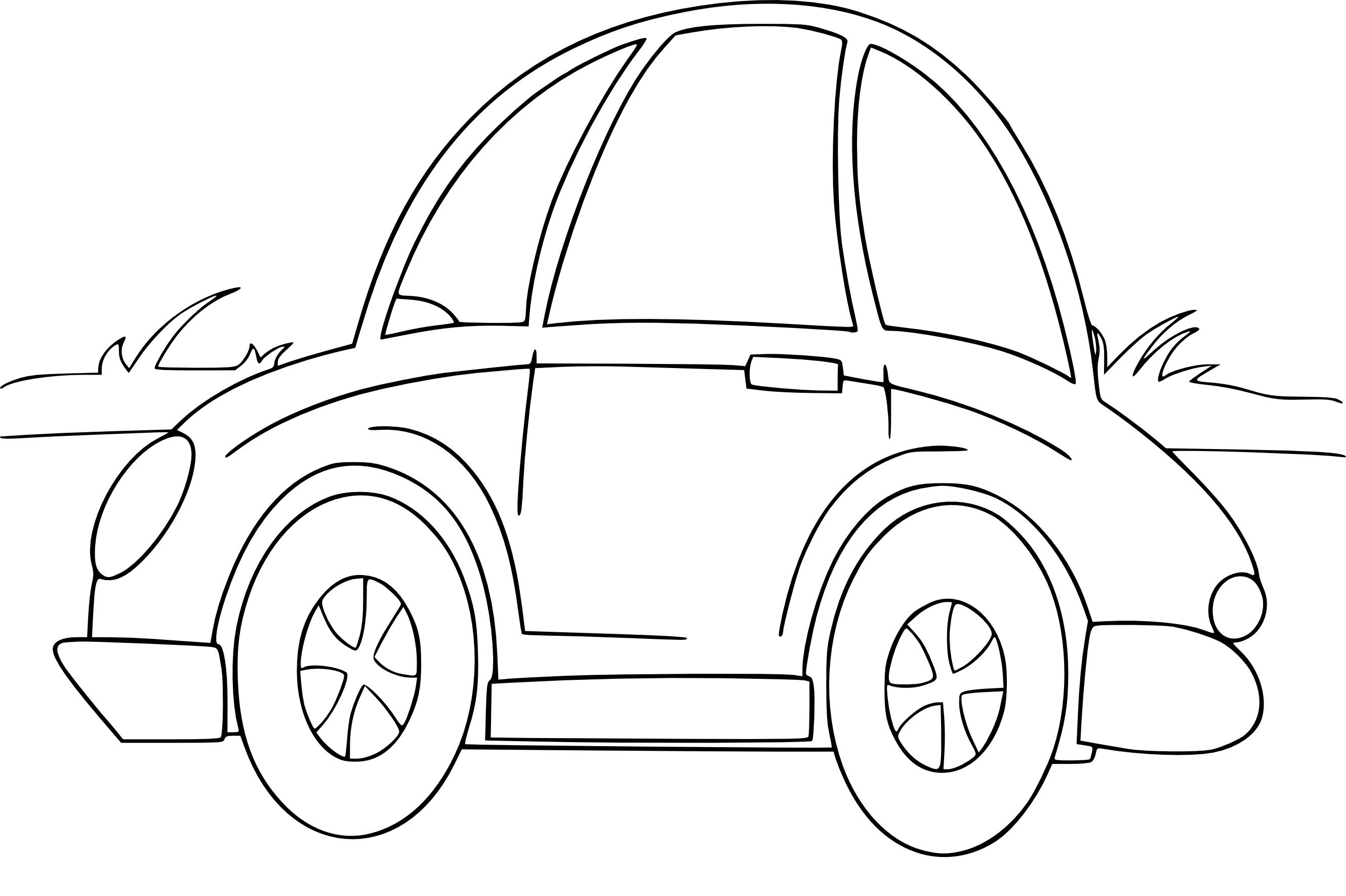 coloriage voiture enfant gratuit