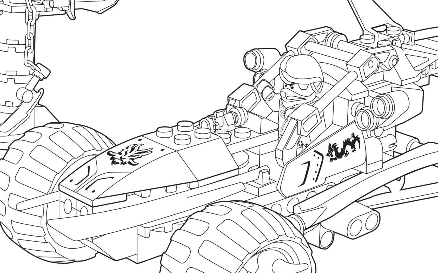Coloriage voiture Ninjago