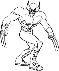 Coloriage X-Men Wolverine