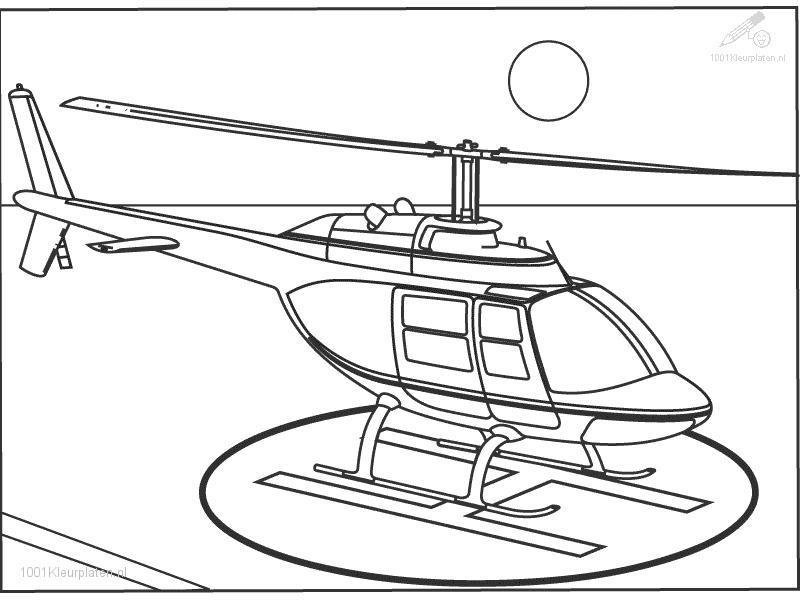 Coloriage De Dessin Helicoptere à Imprimer